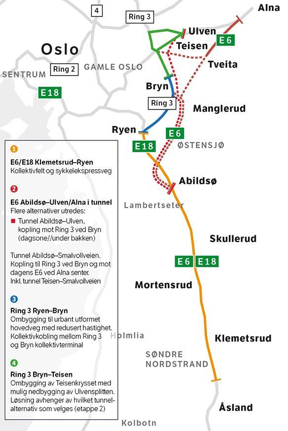 ryen oslo kart E6 Manglerud project   Aas Jakobsen AS ryen oslo kart