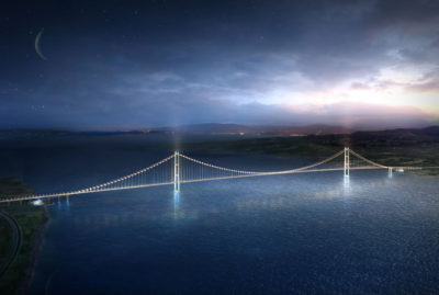 1915 Çanakkale Bridge in Turkey– the new world record span for suspension bridges
